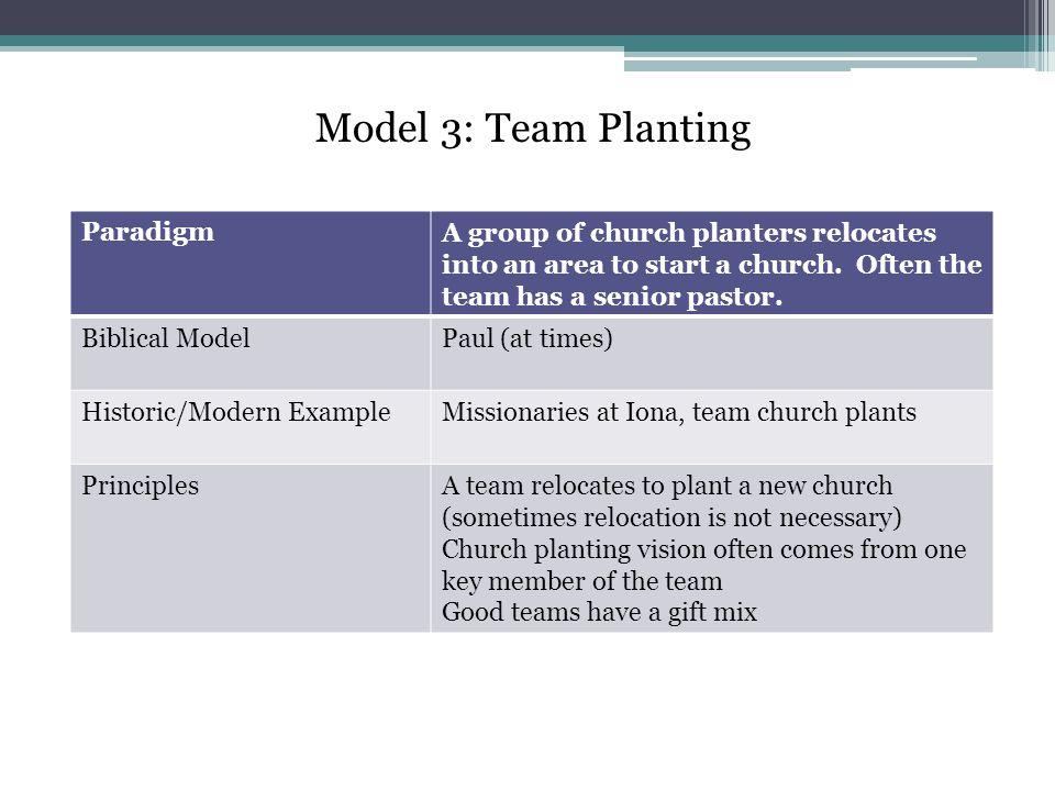 Model 3: Team Planting Paradigm