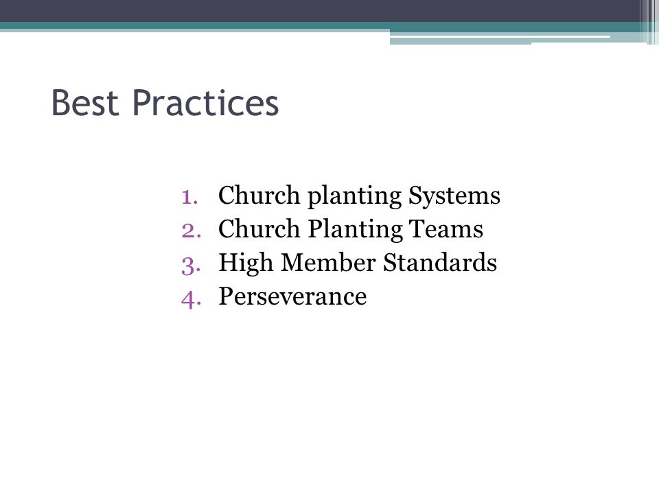Best Practices Church planting Systems Church Planting Teams
