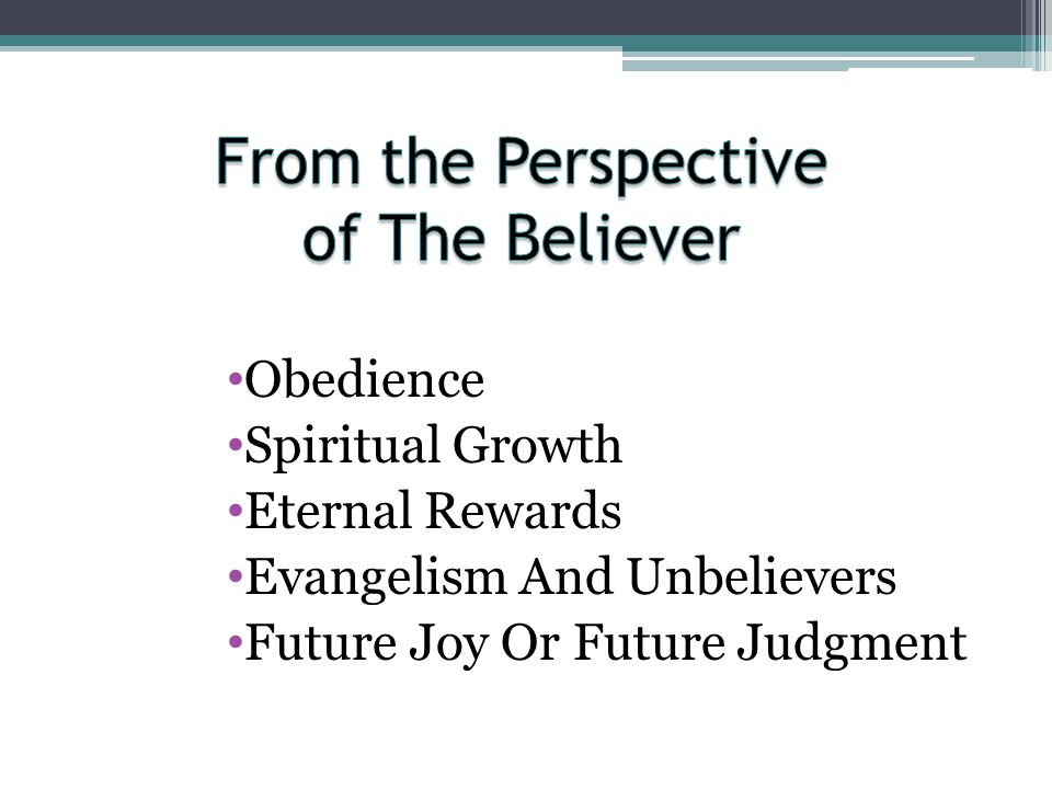 From the Perspective of The Believer