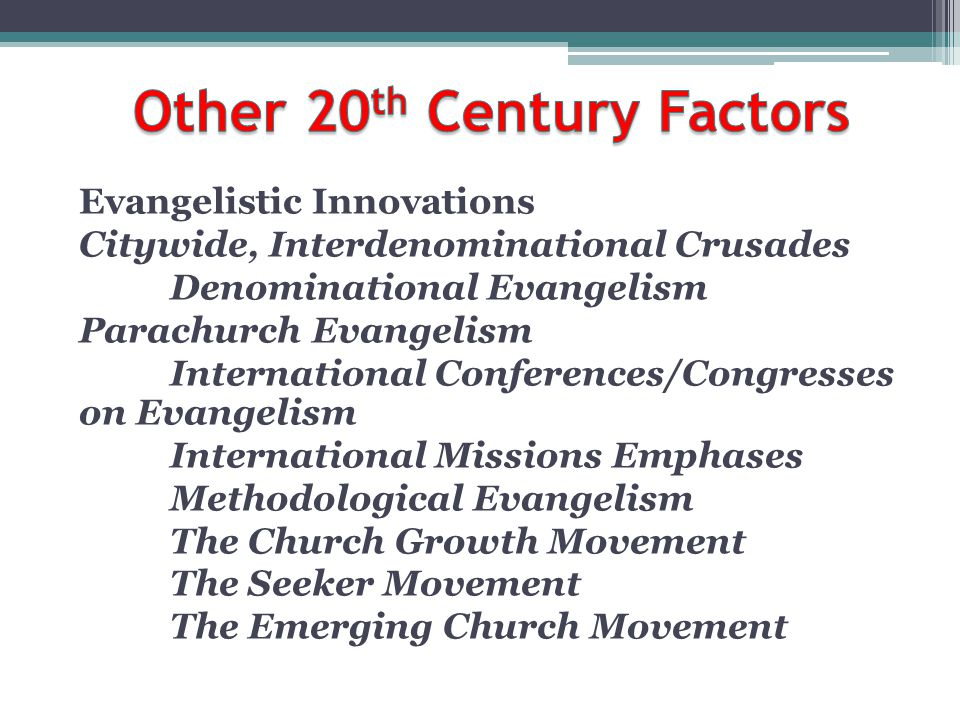 Other 20th Century Factors