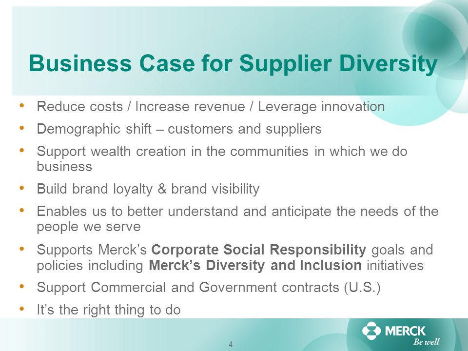 Business Case for Supplier Diversity
