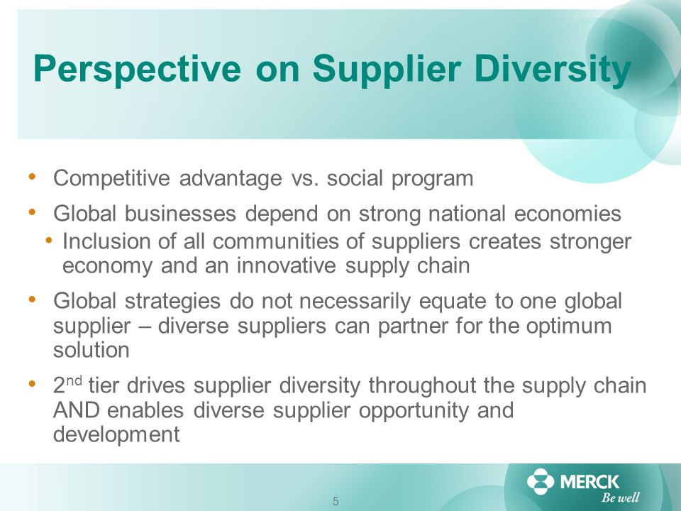 Perspective on Supplier Diversity