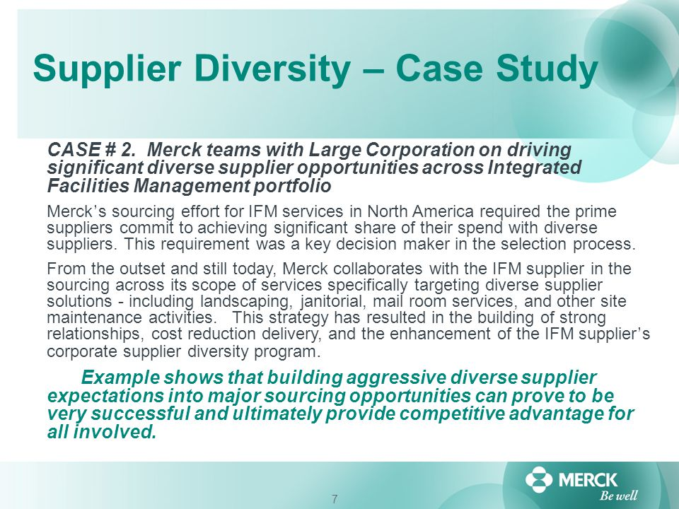 Supplier Diversity – Case Study