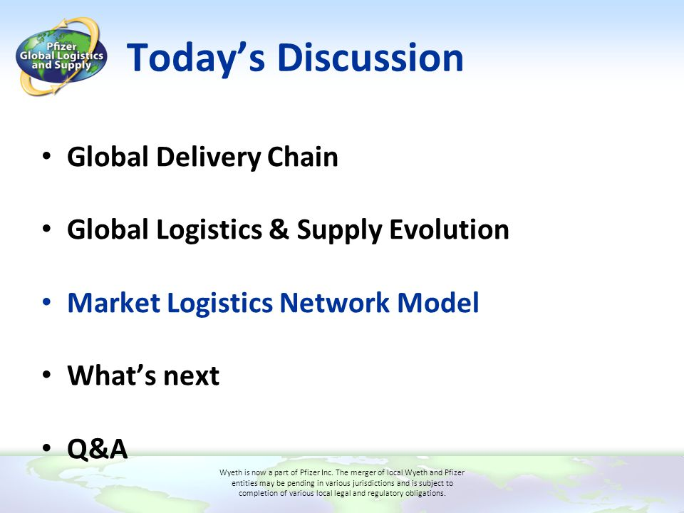 Today's Discussion Global Delivery Chain