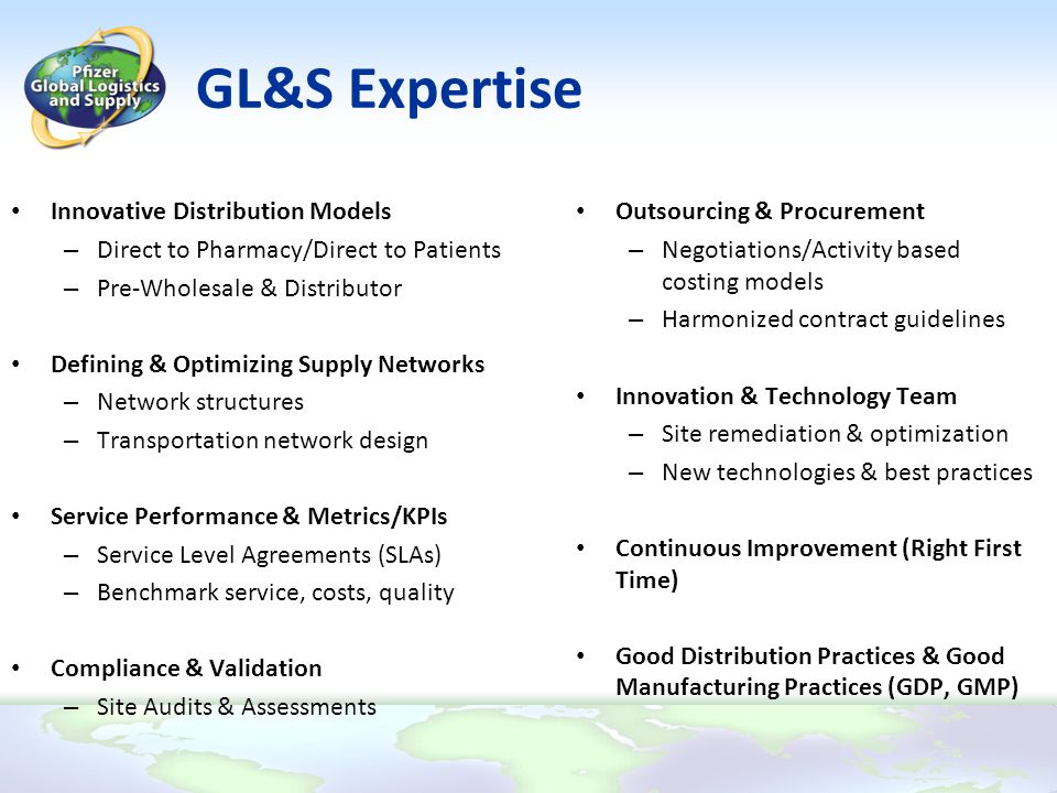 GL&S Expertise Innovative Distribution Models