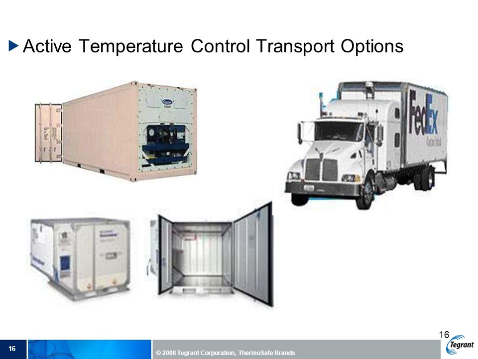 Active Temperature Control Transport Options
