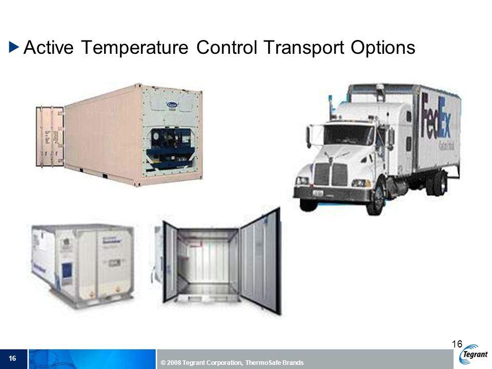 Active Temperature Control Transport Options