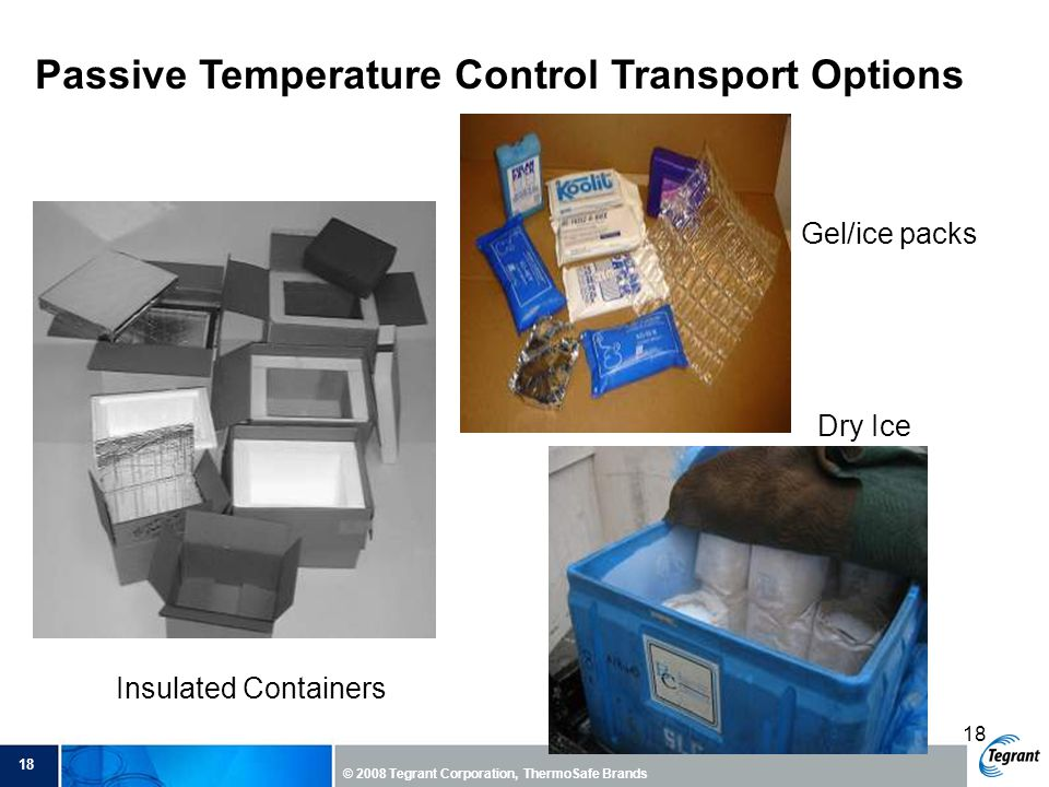 Passive Temperature Control Transport Options