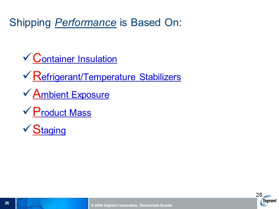 Shipping Performance is Based On: