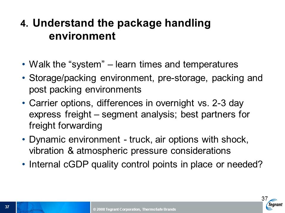 4. Understand the package handling environment