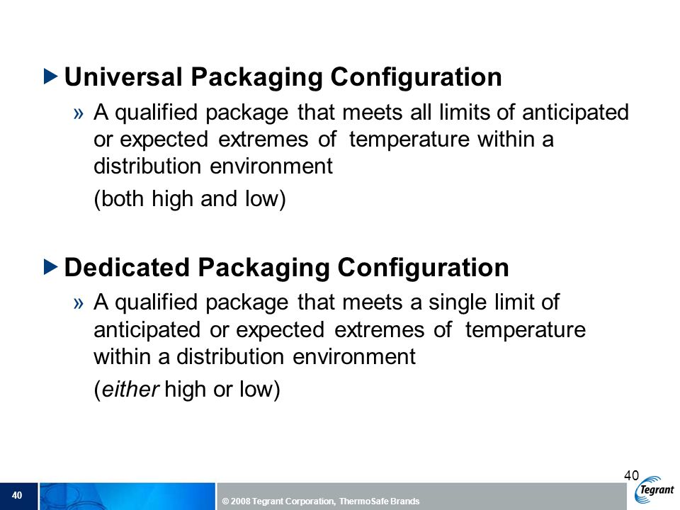 Universal Packaging Configuration