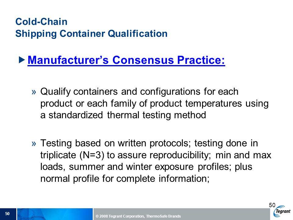 Cold-Chain Shipping Container Qualification