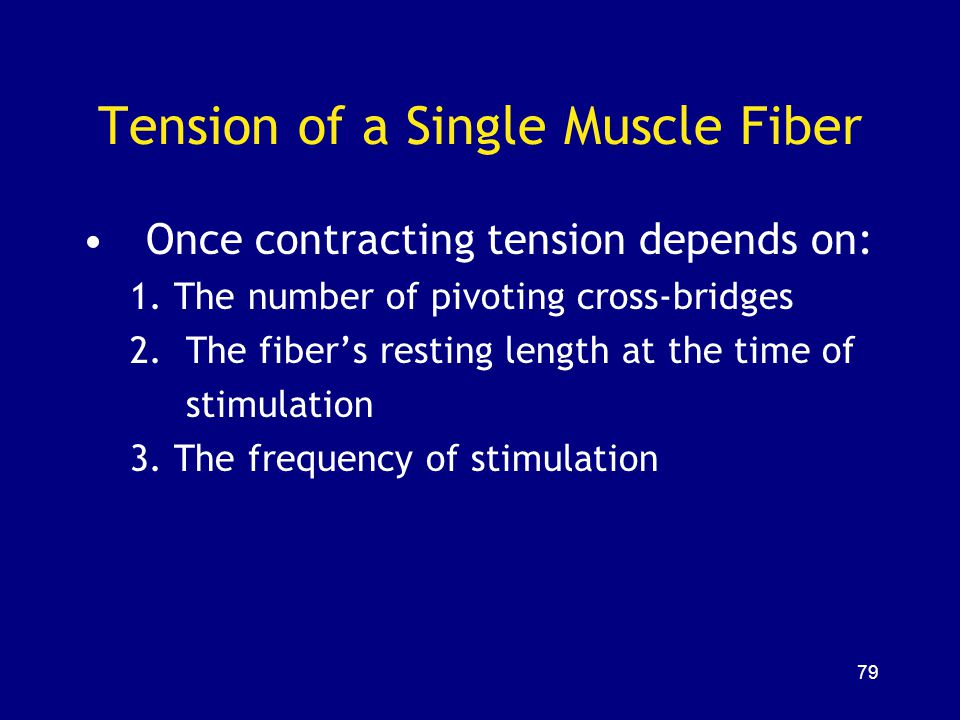 Tension of a Single Muscle Fiber