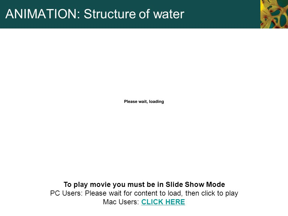 ANIMATION: Structure of water