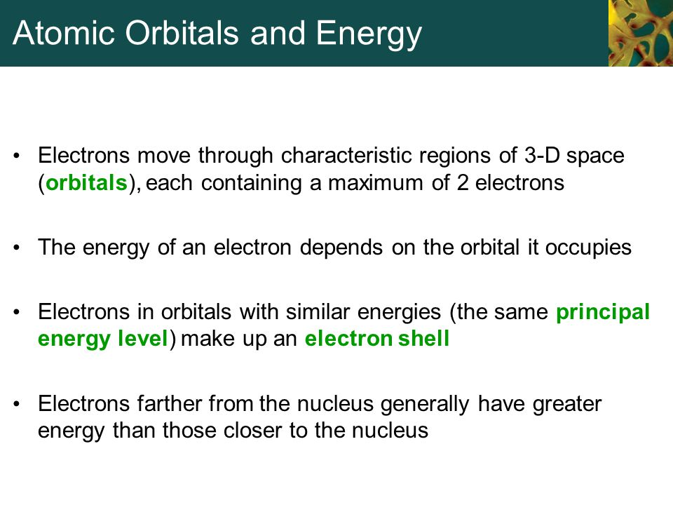 Atomic Orbitals and Energy