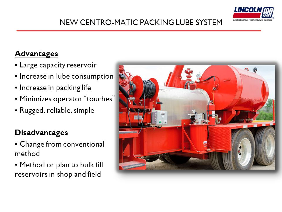 NEW CENTRO-MATIC PACKING LUBE SYSTEM