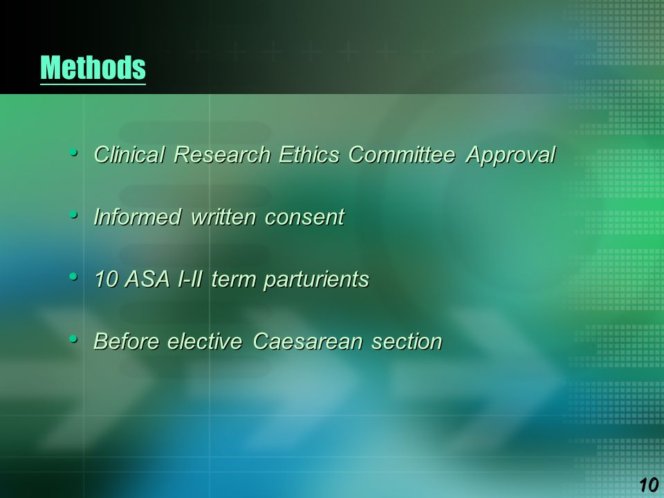 Methods Clinical Research Ethics Committee Approval
