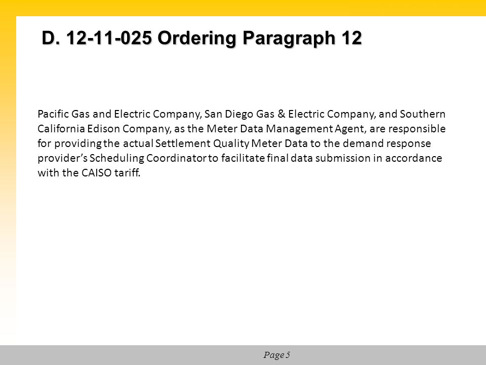 D. 12-11-025 Ordering Paragraph 12