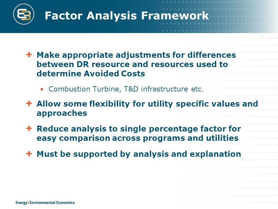 Factor Analysis Framework