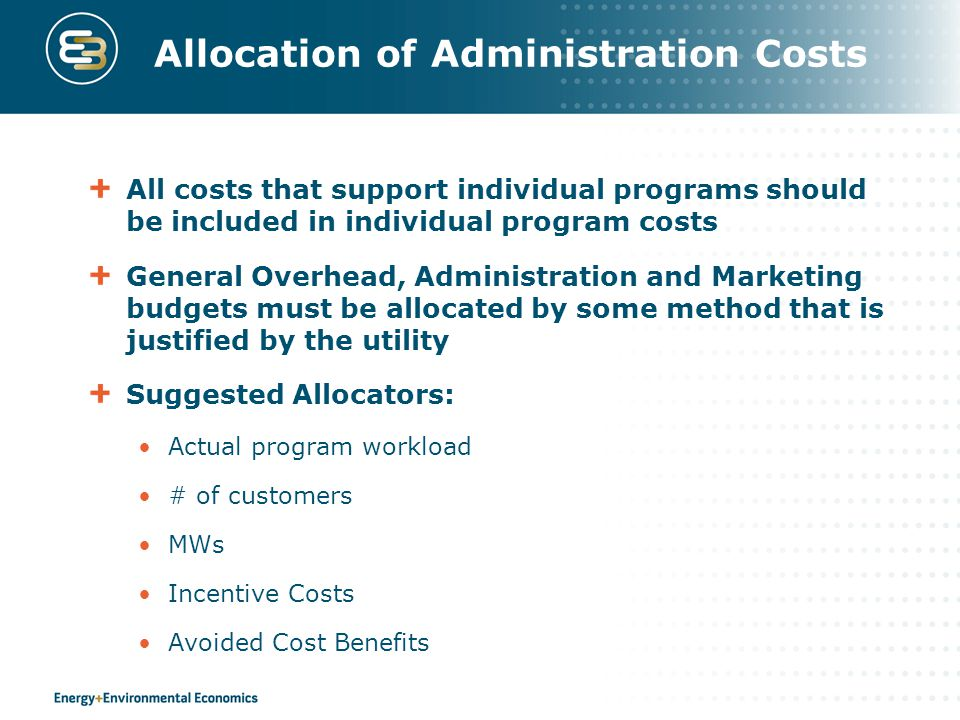 Allocation of Administration Costs