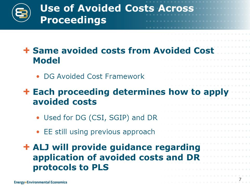Use of Avoided Costs Across Proceedings