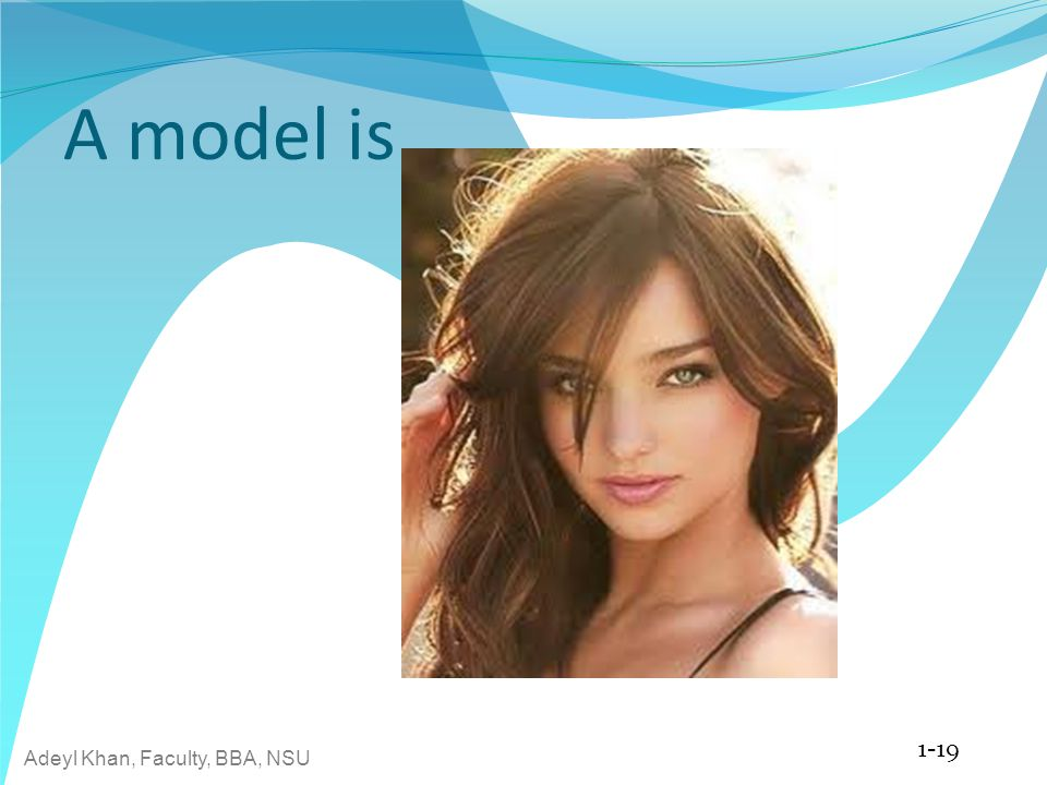 A model is