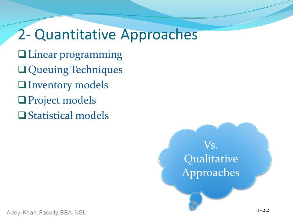 2- Quantitative Approaches