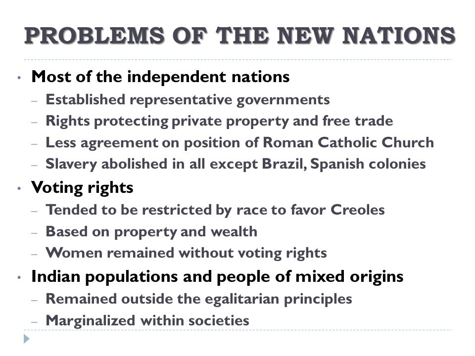 PROBLEMS OF THE NEW NATIONS