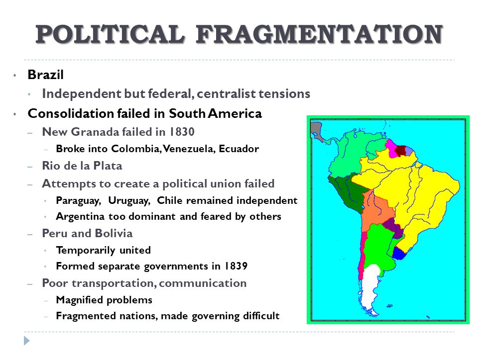 POLITICAL FRAGMENTATION