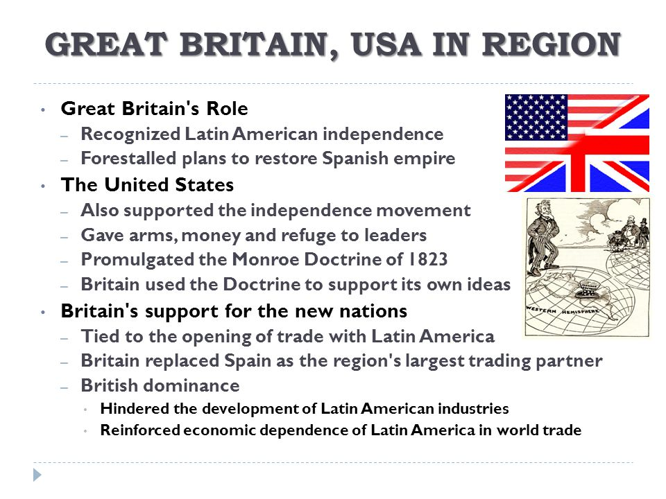 GREAT BRITAIN, USA IN REGION