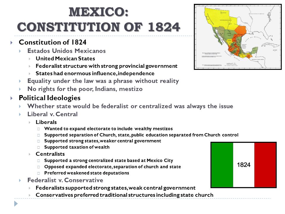 Mexico: Constitution of 1824