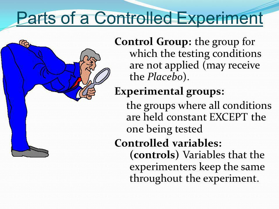 Parts of a Controlled Experiment