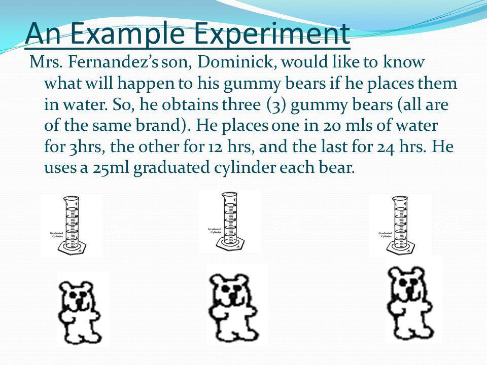 An Example Experiment