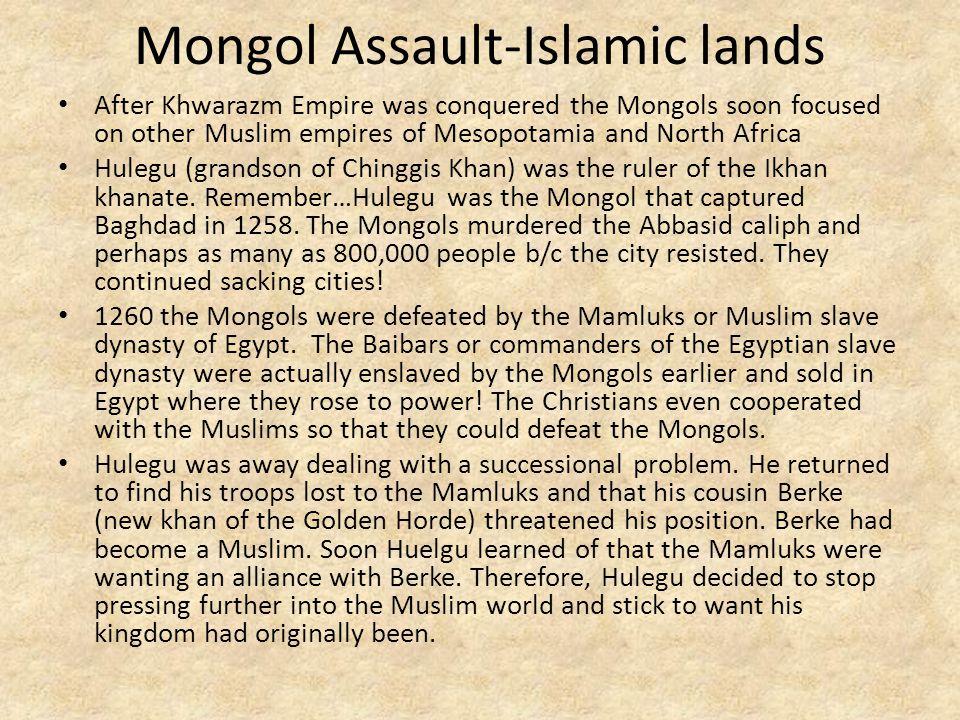 Mongol Assault-Islamic lands