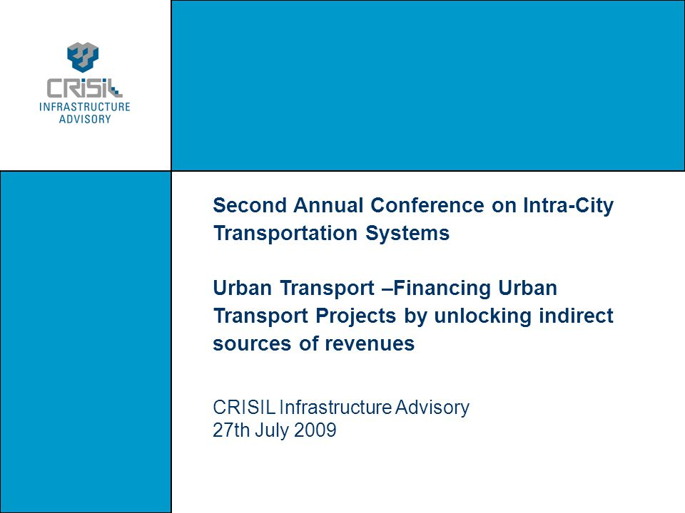 Second Annual Conference on Intra-City Transportation Systems