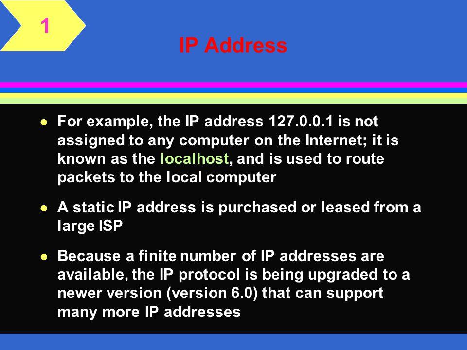 1 IP Address.