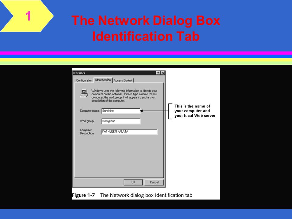 The Network Dialog Box Identification Tab