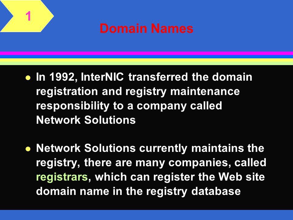 1 Domain Names.