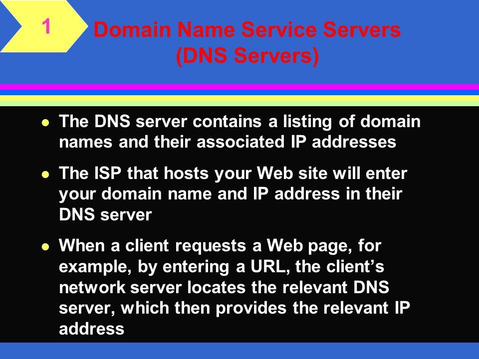 Domain Name Service Servers (DNS Servers)