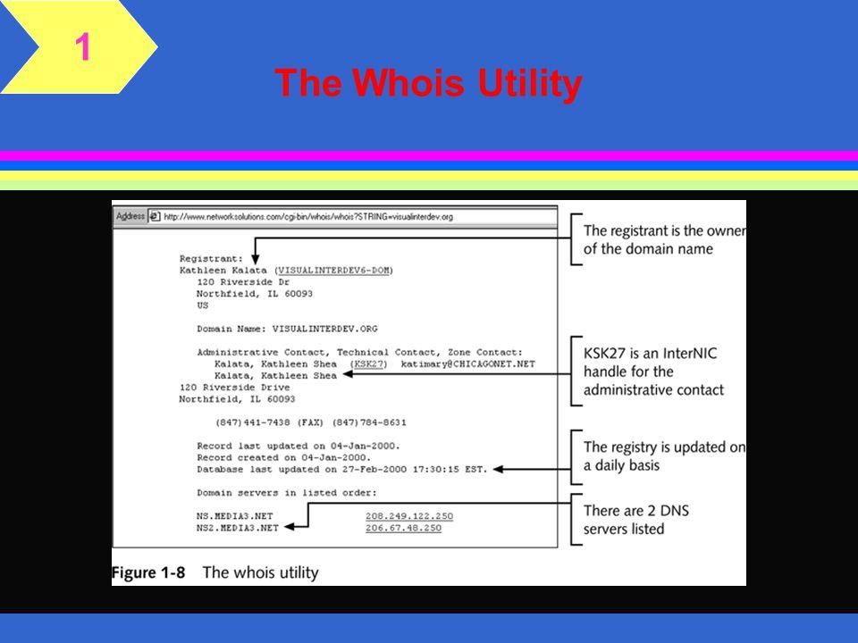 1 The Whois Utility