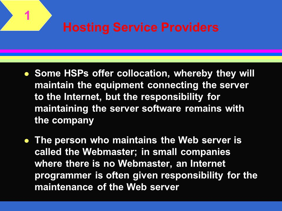 Hosting Service Providers
