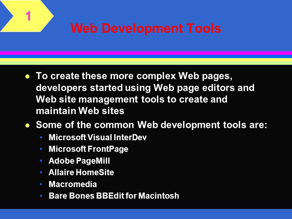 1 Web Development Tools.