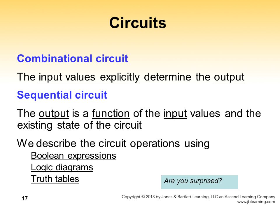 Circuits Combinational circuit