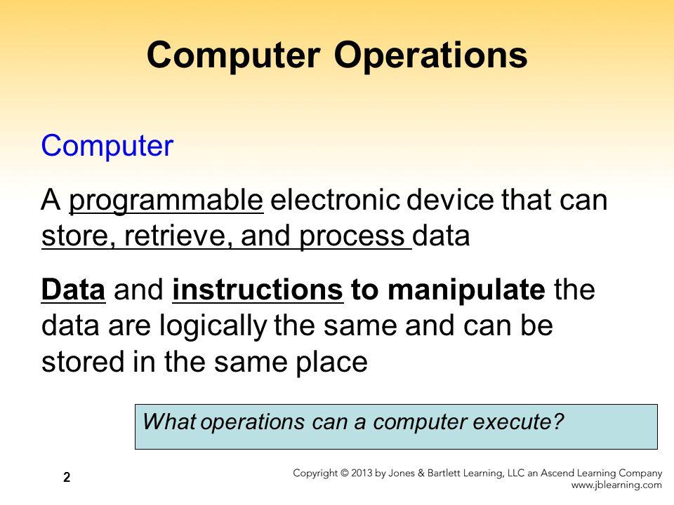 Computer Operations Computer