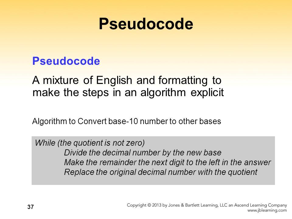 Pseudocode Pseudocode