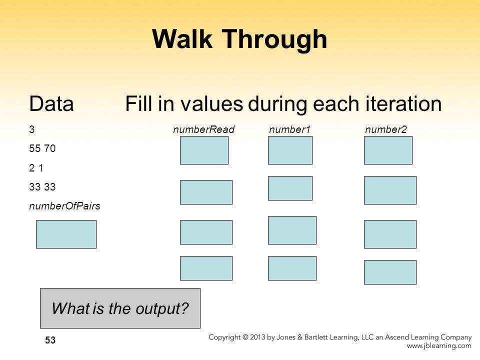 Walk Through Data Fill in values during each iteration