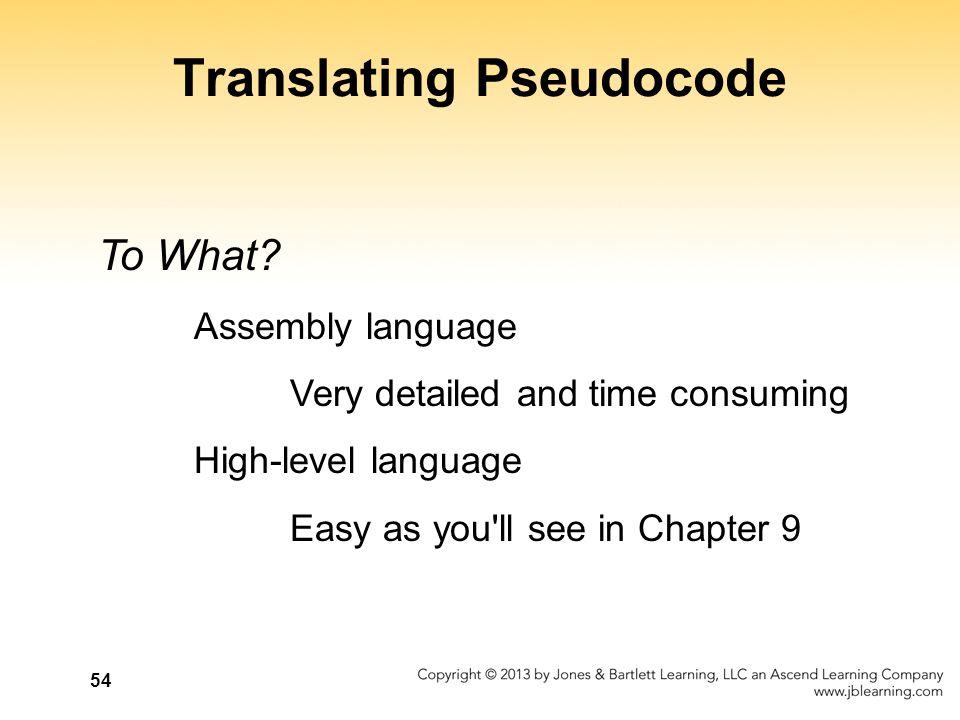 Translating Pseudocode