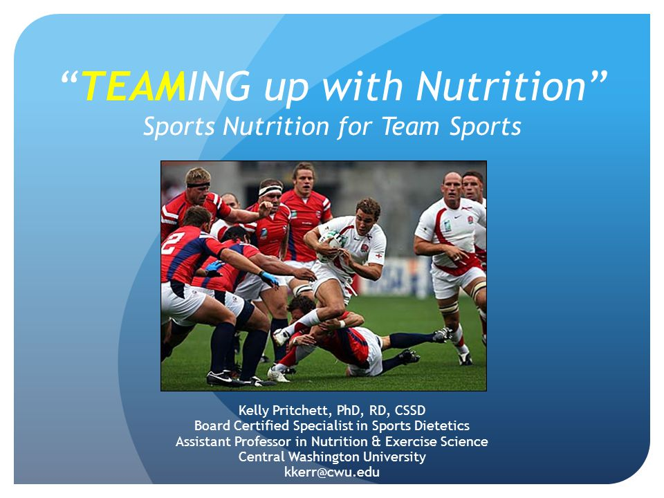 TEAMING up with Nutrition Sports Nutrition for Team Sports