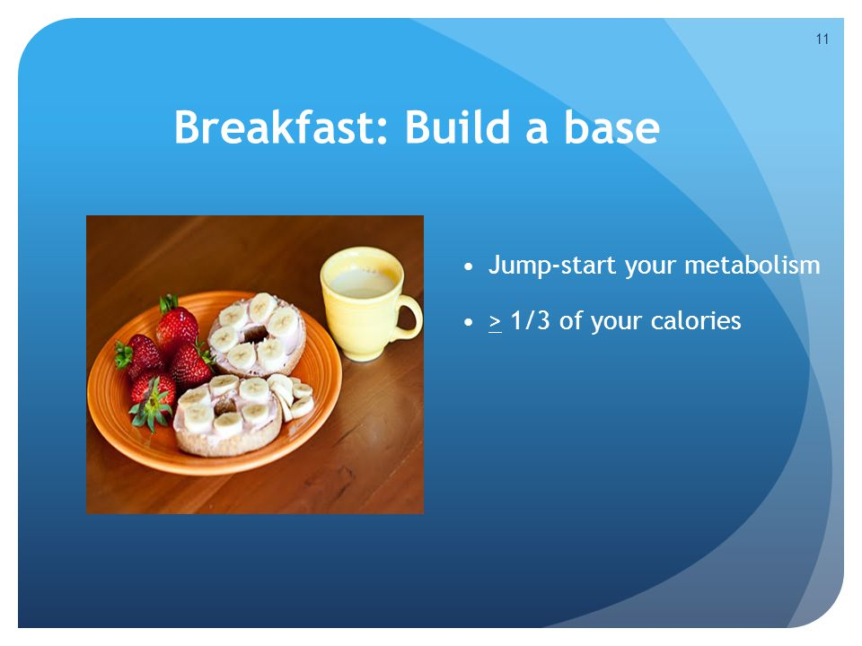 Breakfast: Build a base