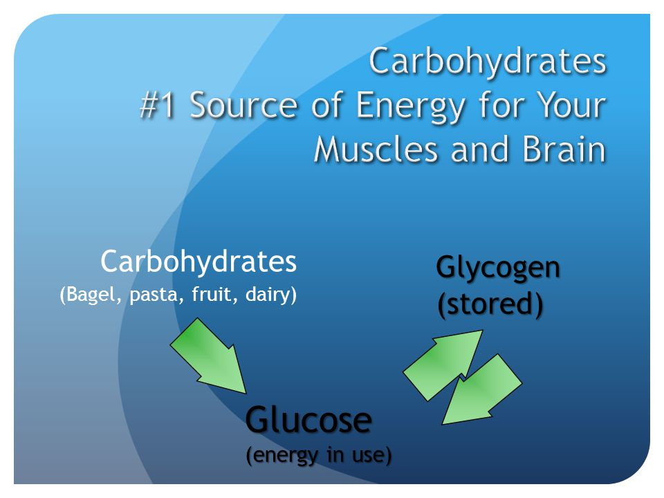 Carbohydrates #1 Source of Energy for Your Muscles and Brain